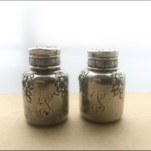 Antique Sterling Silver Salt & Pepper Shakers